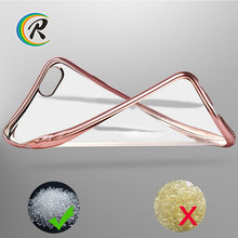 Luxury Silicon for iphone clear case for apple iPhone 4 plating bumper tpu back cover cellphone case