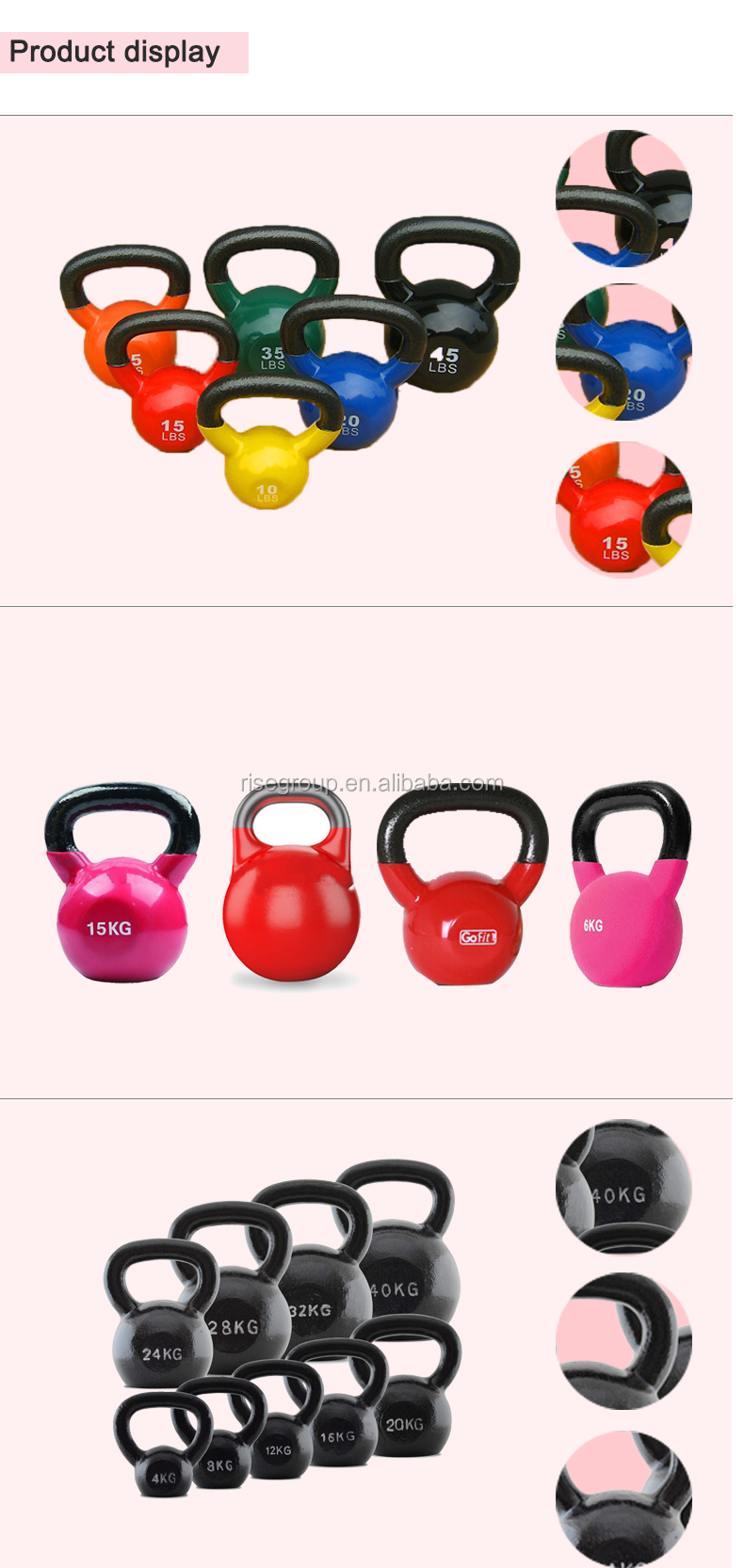 Color plastic cement kettle bell buy color plastic for Fillable kettlebell