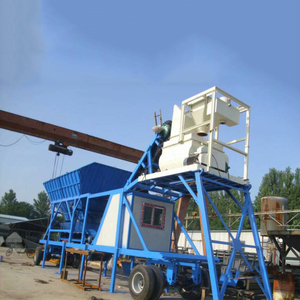 MHZS50 Wet Mix Mobile Concrete Batch Plant for Sale