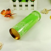 factory sale slim green scented tea tin box