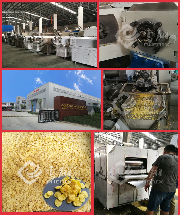 Breakfast Cereal Corn Flakes Choco Chips Machine processing Line