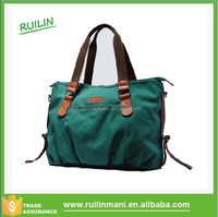 Fashion Ladies Canvas and Leather handbag at Low Price Handbag Manufacturer