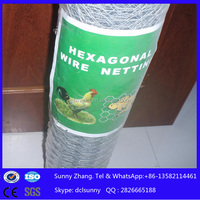 2015 galvanized chicken wire netting/galvanized poultry fence