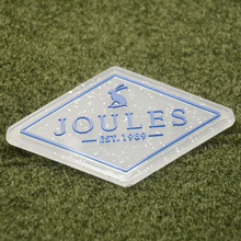 3D embossed shiny logo transparent background PVC rubber sew on patch