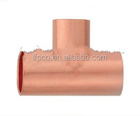 Copper pipe fitting, reducing Tee C x C x C, for refrigeration and air conditioning