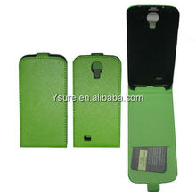 Green Flip cell phone Cases For Samsung Galaxy S4 I9500 with Card Holder