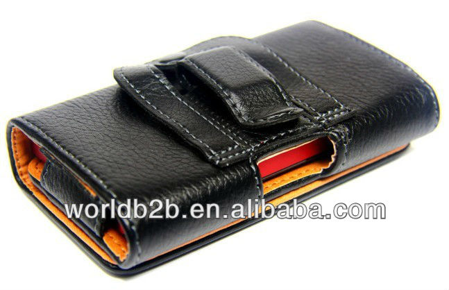 Horizontal Leather Case Cover for google nexus 4, Back with belt Clip