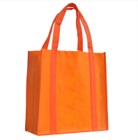 Foldable plain handle on bottom of non woven bag