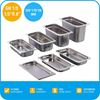 Stainless Steel food serving trays with lid/Gn Pan/Commercial kitchen Equipment