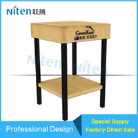 Modern Metal legs table for care skin products display