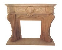Top Quality Customized Natural Stone Sandstone and Granite and Marble Yellow Sandstone Fireplaces