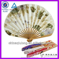 Japanese style seashell shape flower wedding invitation hand held fan
