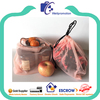 Eco-friendly reusable net produce bags for vegetables and fruits