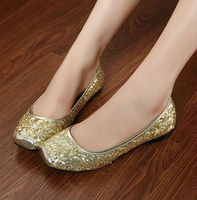 NEW FASHION COMFORTABLE PAILLETTE DECORATION FLAT BASE SHOES