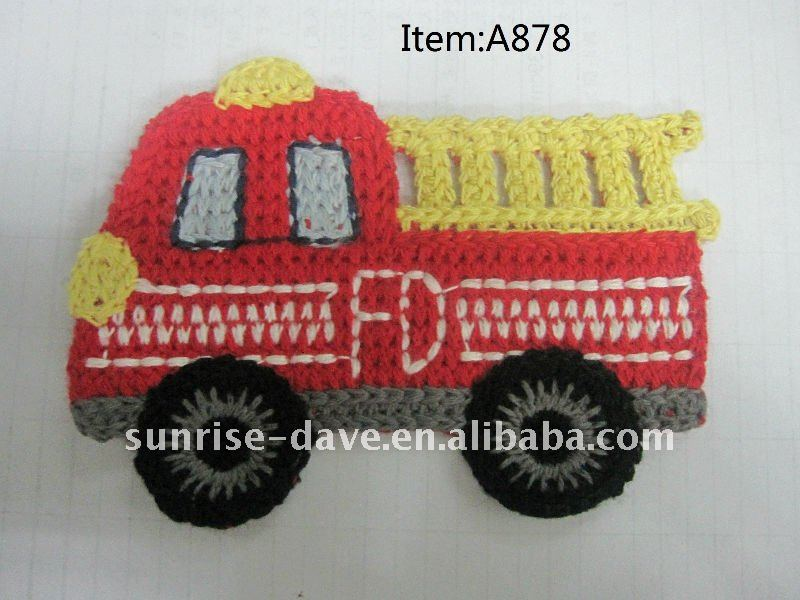 Crochet patches,embroidery bus patches