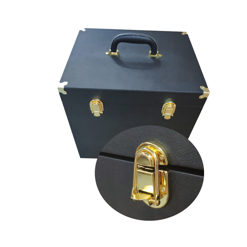Wholesale for highly quality Makeup Storage Organizer, black leather jewelry box with Large Capacity