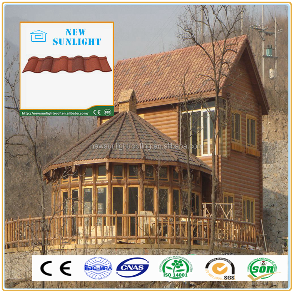 Nigeria style SONCAP certificate corrugated color stone coated metal roofing sheet