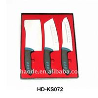 3pcs kitchen knife set with wooden case