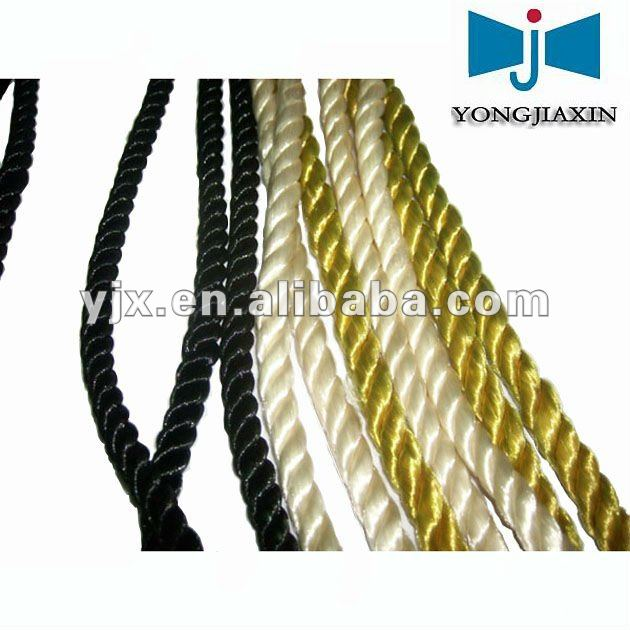 twisted rayon rope for curtain tieback decoration