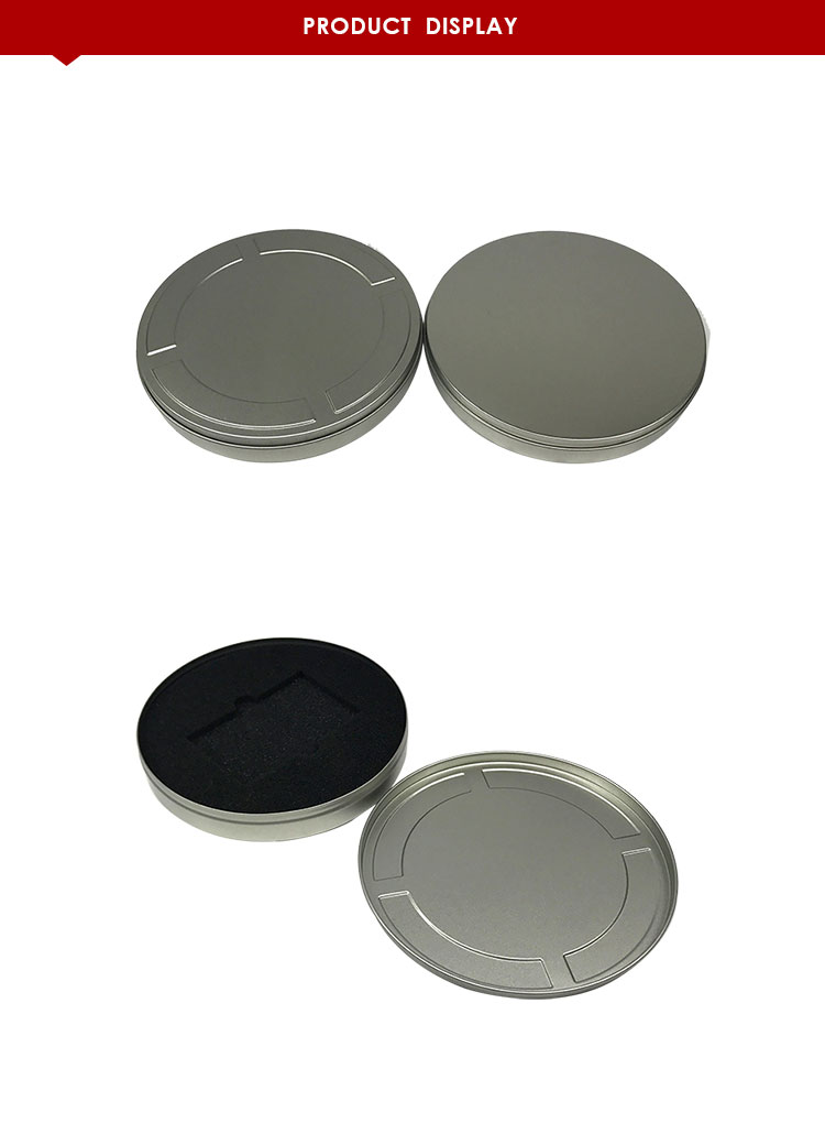 round pill tin/metal can/box