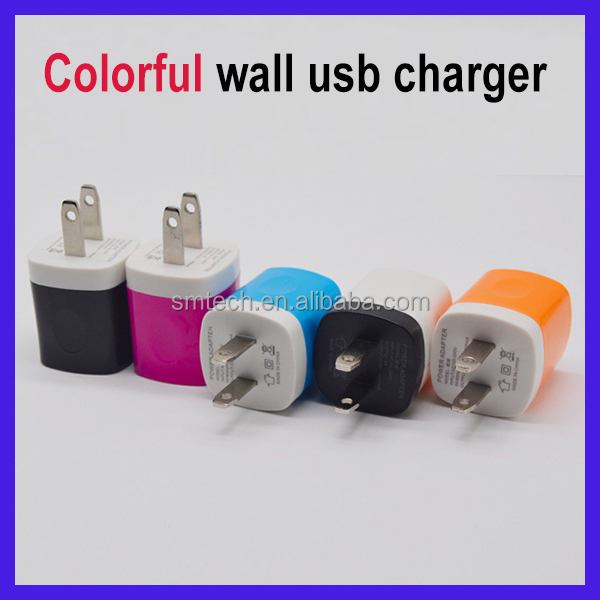 Best Quality Colorful Micro Usb Mobile Phone Travel Charger with single port