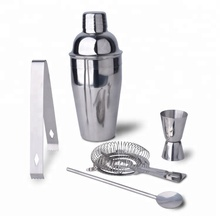 Amazon Popular Stainless Steel Mixology Tool Kit plastic cocktail shaker set