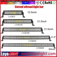 Hot!! Factory wholesale 72W 120W 180W 240W 288W 300W led offroad light bar with CE, RoHS, IP67 curved led light bar