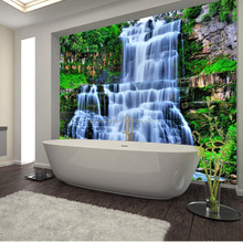 Interior Decorative Waterproof PVC 3d Wallpaper For Bathroom