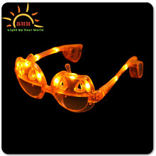 Party decoration pumpkin flashing led eyeglasses for party