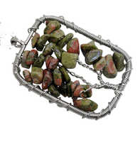 wholesale rectangle shape lucky tree pendant with Unakite chip gemstone for women and decorate gift 10pcs/lot