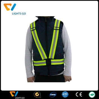 2018 high light reflective running safety vest / reflective winter safety bike vest jacket