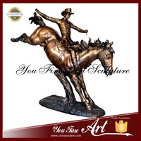 Bronze Riding Horse Man statue