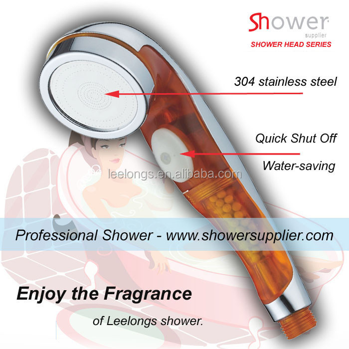 Leelongs manufacture PC plastic healthy aroma anion filter hand shower head