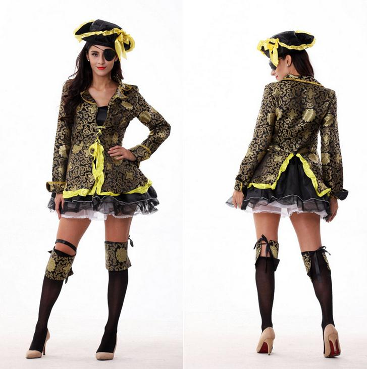 2016 Newest design adult jake the neverland japanese sexy cosplay pirate costume for women