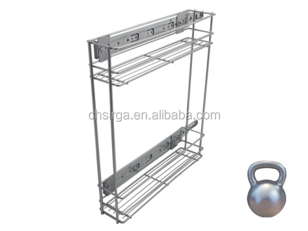 2015 Hot selling Kitchen organizer pull out drawer wire basket with slide