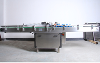 Glass bottles linear adhesive labeling machine, glass bottles labeling machine