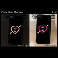 Best Quality for iphone 4 5 5s 5c 6 6plus phone protect case cover ,for iphone 6 case,for iphone 5s cover light glow in dark