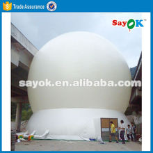 igloo white big inflatable air projection dome tent for sale