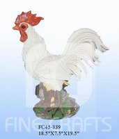 Polyresin chicken garden statue decoration