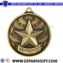 Custom Cheap Award Metal Sports Basketball Medal With ribbon