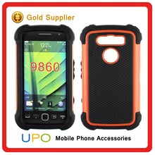 [UPO] Shockproof Hybrid TPU + PC Armor Mobile Phone Case For Blackberry 9850/9860