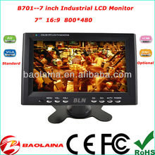 Portable 7 inch Car LCD Monitor Industrial display CCTV System and Medical display