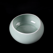 most popular elegant flower shape jade color fine porcelain vase of high quality