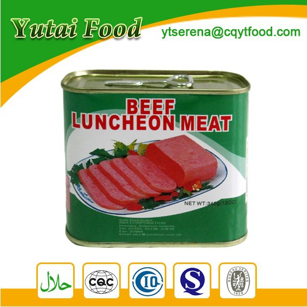 Wholesale Convenience Flavorsome Beef Luncheon Meat in Tin