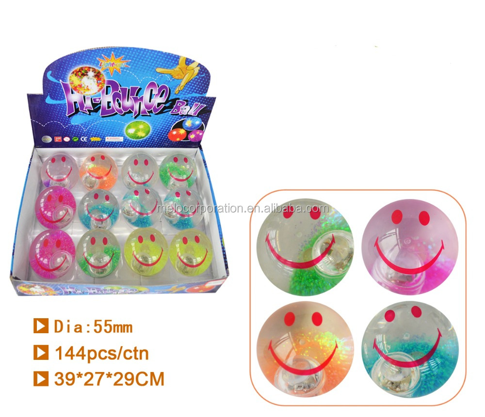 55mm prnint flashing water bouncing ball