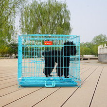 expandable black metal portable folding iron dog kennel pet crate