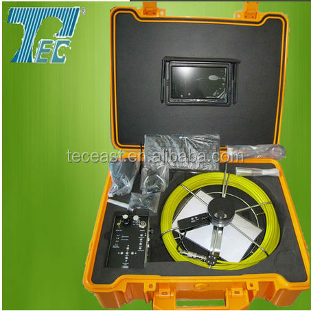 HOT SALE!7'' TFT LCD 20m to 100m Cable Underwater Drain Sewer Pipe Inspection Camera with USB Keyboard TEC Z710DK