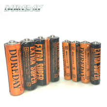 Free sample non-rechargeable R6 zinc carbon battery 1.5v aa