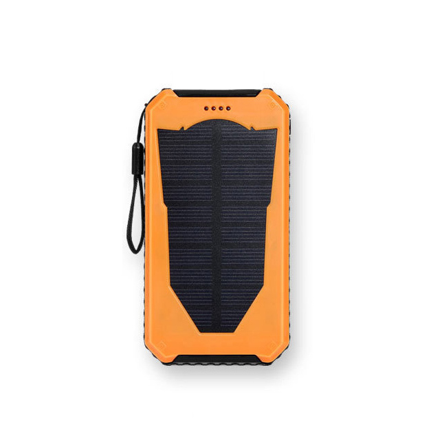 <strong>Portable</strong> 1.2w solar panel 10000mah dual usb cell phone outdoor charger power bank with flashlight