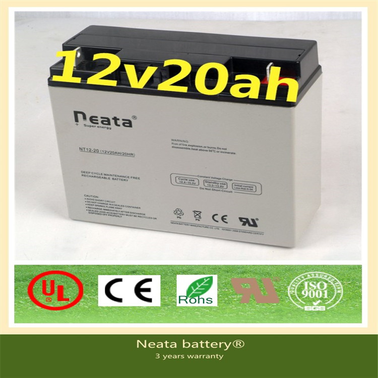 Neata China good price solar rechargeable gel battery 12v 20ah 50ah 70ah